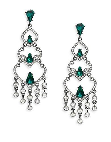 - Robert Rose Chandelier Drop Earrings, Emerald-Colored/Clear