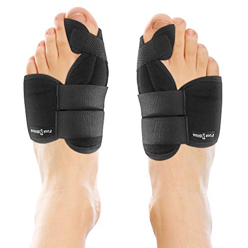 - Nighttime Bunion Corrector + Bunion Relief Brace. 2 Best Bunion Toe Splint & Straightener Support Braces. Big and Hammer Toes Cushion for Bunions, Hallux Valgus, Arthritis, Feet Pain. Men and Women