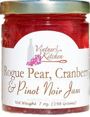 Rogue Pear, Cranberry & Pinot Noir Jam