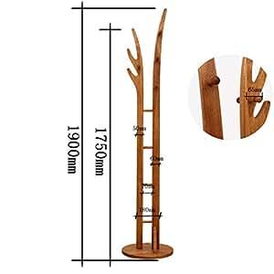 ERCZYO Perchero 175 * 44 cm Colgador de Madera Maciza Idea ...