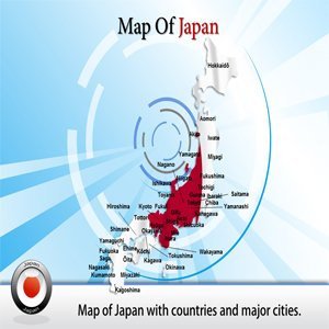 Amazon Com Map Of Japan Powerpoint Template Presentation Ppt