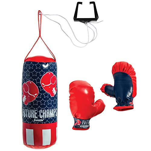 Franklin Sports Future Champs Kids' Mini Boxing Set – Includes Kids' Boxing Gloves – Punching Bag & Door Jam Bracket…