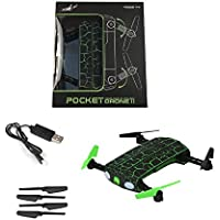 Owill G Sensor 0.3MP Camera WIFI FPV RC Quadcopter MINI Drone Selfie Foldable Altitude Hold Helicopter (Green)