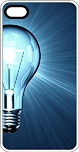 Blue Spectrum Incandescent Light Bulb Clear Rubber Case for Apple iPhone 5 or iPhone 5s