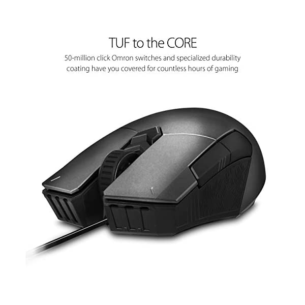 ASUS Optical RGB Gaming Mouse - P304 TUF M5 | Ambidextrous, Ergonomic, Lightweight | Wired Gaming Mouse for PC | 6200…