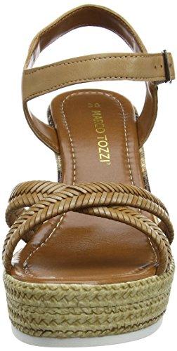Marco Cognac Marron Bout 305 Femme 28361 Premio Tozzi Sandales Ouvert SqwSvr