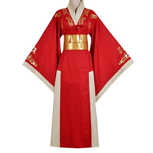 AGLAYOUPIN Women Red Renaissance Kimono Dress for Queen Cersei Lannister Cospaly Costume Dress Halloween (L) ()