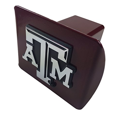 Maroon Truck (Texas A&M updated emblem on Maroon METAL Hitch)