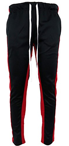 Henry & William Mens Techno Track Pants W/Ankle Zipper