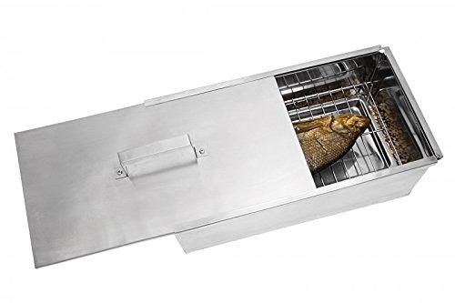 MUSTANG Räucherbox Premium | Smokerbox | Räucherschrank klein | Edelstahl poliert | 45 x 23 x 16cm