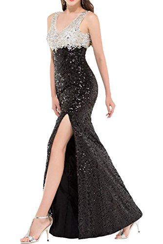 Abendkleider 2018 Paillette Glamour Schwarz Ivydressing Steine Neu Promkleider Partykleider Meerjungfrau Schwarz Lang Cnq8UwtO