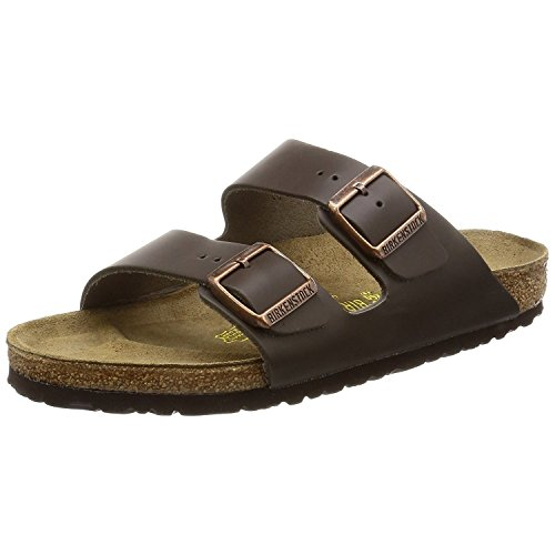 Birkenstock Womens Arizona Dark Brown Leather Sandals 37 EU by Birkenstock