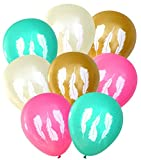 Feather Balloons (16 pcs) | Tribal | by Nerdy Words (Pink, Ivory, Gold, Aqua)