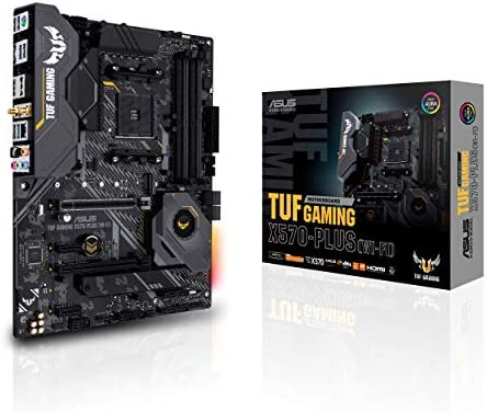 Asus AM4 TUF Gaming X570-Plus (Wi-Fi) AM4 Zen 3 Ryzen 5000 & third Gen Ryzen ATX Motherboard With PCIe 4.0, Dual M.2, 12+2 With Dr. MOS energy level, USB 3.2 Gen 2 And Aura Sync RGB lighting fixtures