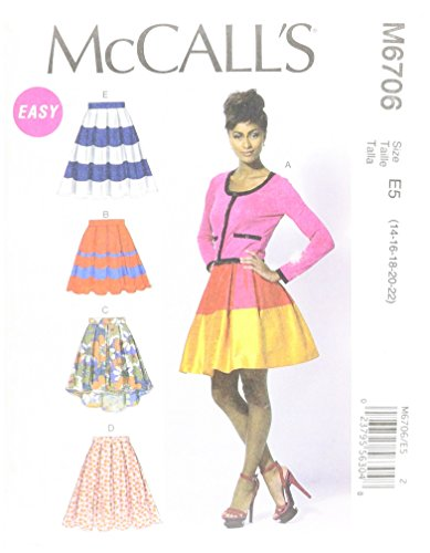 McCall Patterns M6706 Misses' Skirts and Petticoat Sewing Template, Size E5 (14-16-18-20-22)