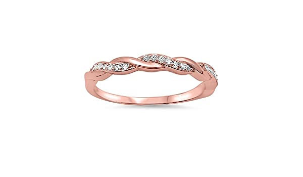 Princess Kylie High Polished 925 Sterling Silver Thin Love Knot Wire Ring