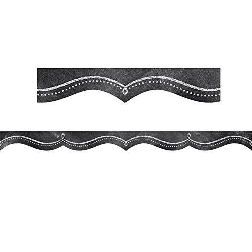 Creative Teaching Press Dotted Swirl Borders, Black/White (0249) -