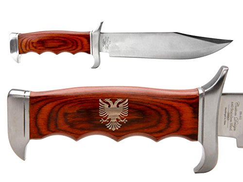NDZ Performance Elk Ridge Outdoor Hunting Fixed Blade Full Tang Bowie Knife Albanian Double Headed Eagle Crest