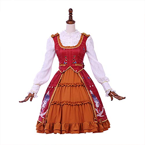 (The Cherry Blossom Girl Lolita Suit Dress with a Waistcoat British Style for School Girl)