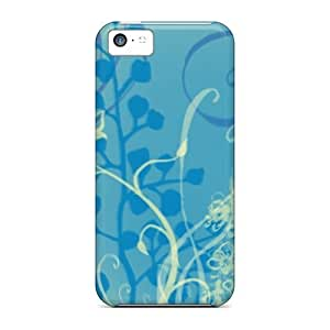 Iphone 5c Hard Back With Bumper Silicone Gel Tpu Case Cover Waterlilly