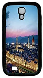 Black Soft Rubber Case Cover For Samsung Galaxy S4 I9500 TPU Back Phone Case Single Shell Skin For Samsung Galaxy S4 I9500 With Sunset City