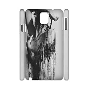 3D Check out this Collection of Amazing Art,Faded Samsung Galaxy Note 3 Case, Case Binocara {White}
