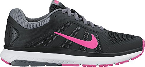 Nike Wmns Dart 12, Zapatillas de Running Para Mujer Negro (Black / Pnk Blast-Cl Gry-Drk Gry)