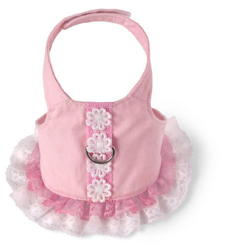 - Doggles Dog Harness Dress, Pink, Small