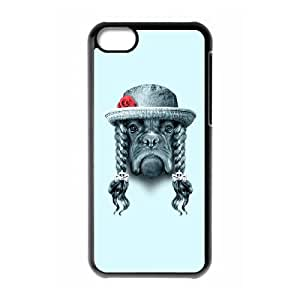 iPhone 5c Cell Phone Case Black LADY BOXER BQP Cell Phone Case For Women Plastic