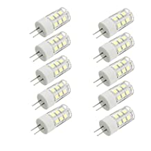 KINGSO 10 Pack G4 2W LED Halogen Bulb Replacement Pure White 6000-6500K 160LM Not Dimmable 21 SMD 2835 Omni Directional Bi-Pin Light Lamp 360 Degrees Beam Angle Energy Saving AC DC 12V