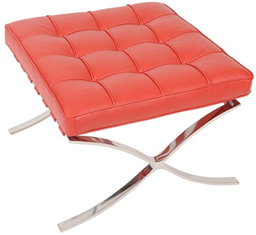 MLF Knoll Barcelona Ottoman/Stool, Aniline Leather, High Density Foam Cushions (Breakfast Nook Couch)