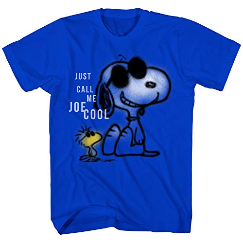 Snoopy DIY Overlay Charlie Brown Cartoon Vintage Classic Retro Graphic Funny Men#039s TShirt Blue XLarge
