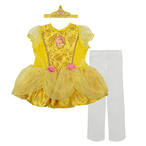 Disney Princess Belle Baby Girls' Costume Tutu Dress, Headband and Tights,Yellow,6-12 Months
