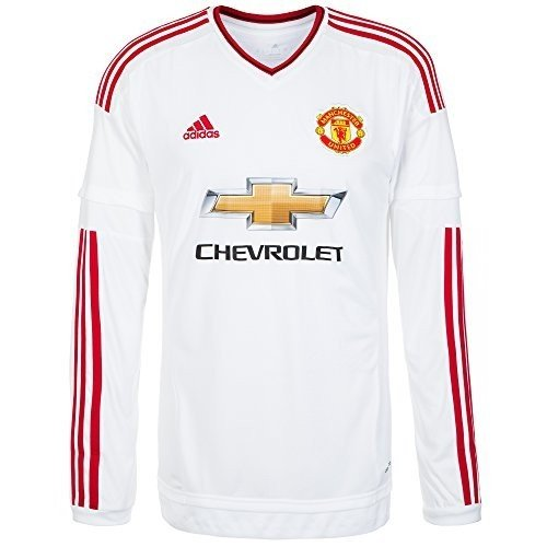 adidas 2015-2016 Man Utd Away Long Sleeve Football Soccer T-Shirt Jersey (Manchester United Kit 2015 16 Long Sleeve)