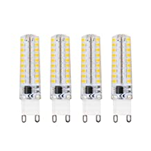 Lamsky Led G9 Dimmable Bulb,5W Warm White 3000K,AC120V,72X2835SMD,4-Pack