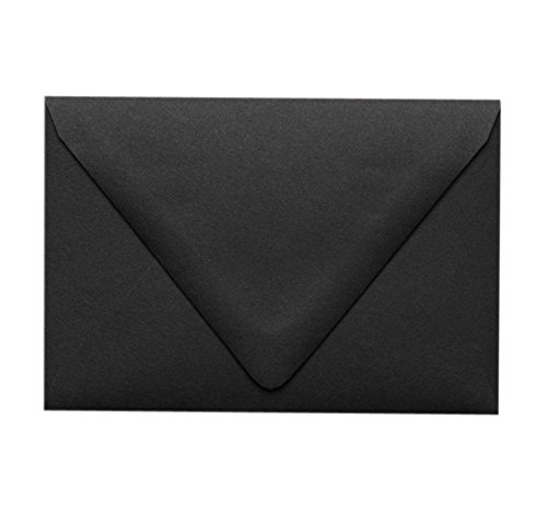 A1 Contour Flap Envelopes (3 5/8 x 5 1/8) - Midnight Black (50 Qty.)