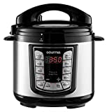 Gourmia GPC400 4 Qt Digital Multi-Mode SmartPot Pressure Cooker | 13 Cook Modes | Removable Pot | 24-Hour Delay Timer | Automatic Keep Warm | LCD Display | Pressure Sensor Lid Lock | Recipe Book