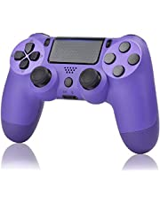 YU33 Wireless Controller Compatible with PS4 - YU33 Remote Joystick Gamepad Compatible with Playstation 4 with Charging Cable and Double Shock (Purple, 2021,New)