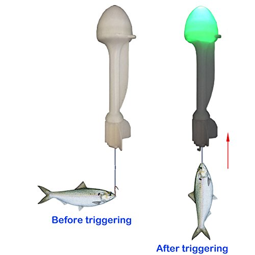 Auto Strike Rods - Fishing Float Automatic Hook Trigger Electronic Buoy LED Auto. Trolling Float, Fish Strike Indicator Auto Fishing Float Night Fishing Fish Bite Alarm Indicator Hook Setter Fish Catcher Fish Trap