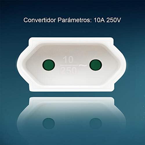 Blanco Extrastar Electronics conector hembra reemplazable con protecci/ón,10A//250 V
