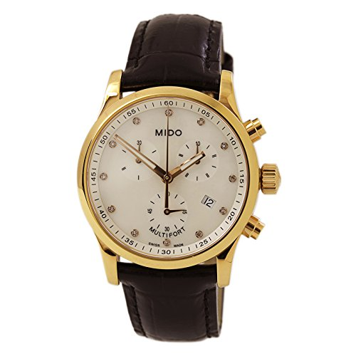Mido Multifort Mother of Pearl Dial Black Leather Ladies Watch M005.217.36.116.20