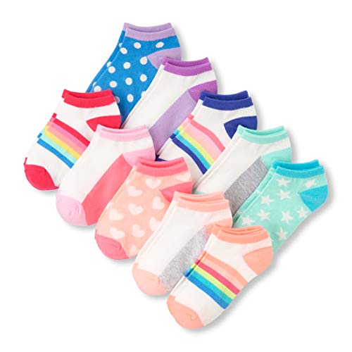 - The Children's Place Big Girls' 10 Pack Novelty Printed Ankle Sock Set, Multi CLR, S 11-13