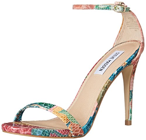 Steve Madden Women's Stecy Dress Sandal, Floral Multi, 8.5 M US