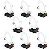 Sunco Lighting 8 Pack 6 Inch Slim LED Downlight with Junction Box, 14W=100W, 850 LM, Dimmable, 3000K Warm White, Recessed Jbox Fixture, IC Rated, Simple Retrofit Installation - ETL & Energy Star