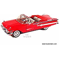 73110AC/R Motormax - Chevy Impala Convertible (1960, 1/18 6mo739qgo scale diecast model car, Red) 73110AC/R ihdr3hv83l diecast car model 1970 Chevy Impaly Convertible 73110AC/