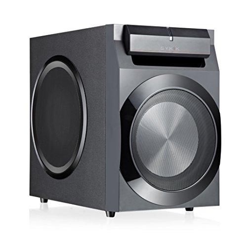 sykik power spp0298bt  bluetooth powerful 210w rms  with 8 Subwoofer Doggo Subwoofer Speaker