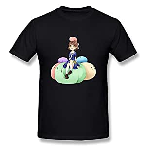 Hsuail Men's Clannad Ushio Cartoon T-Shirt Black US Size XS