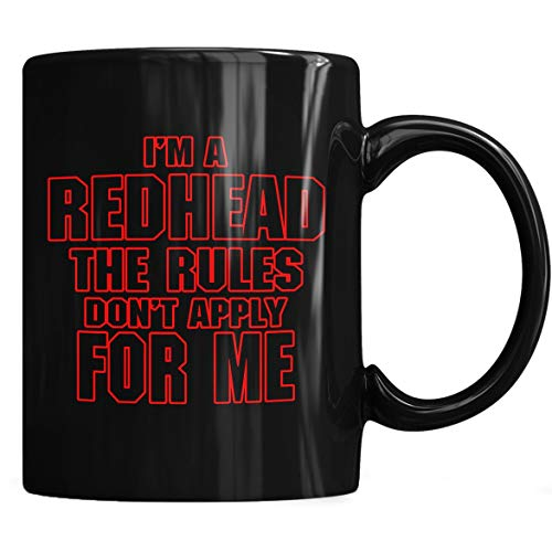 (Redhead,Red Head Rules Apply Mug - Redhead Coffee Mug 11oz Gift Black Tea Cups)