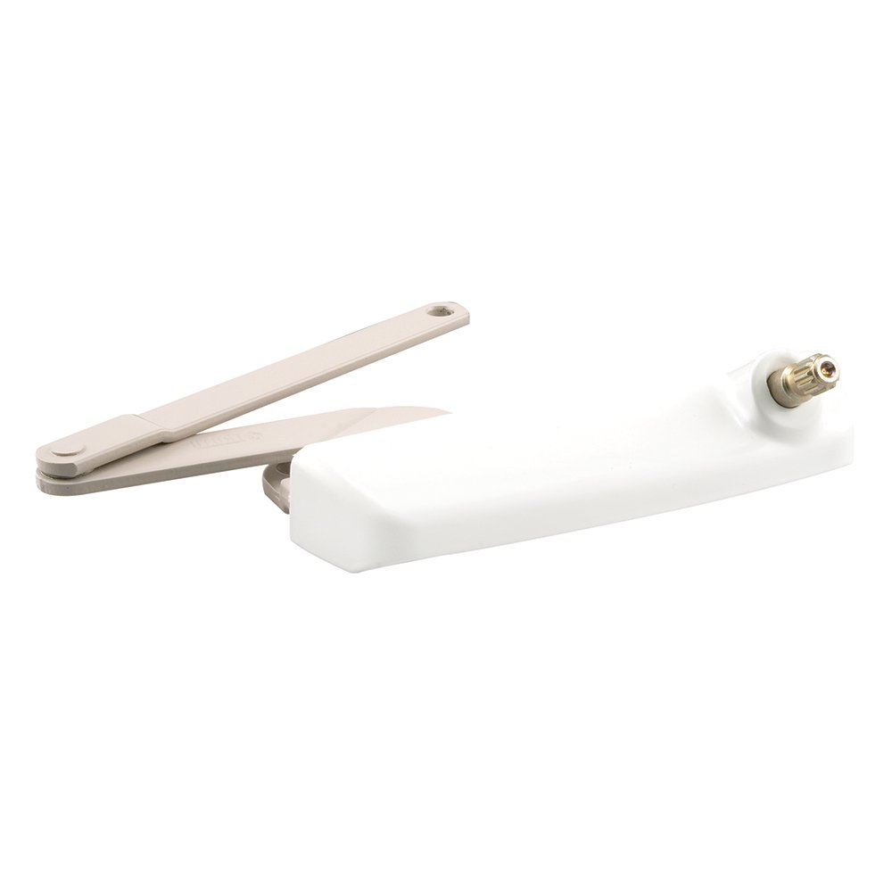 Prime-Line Products TH 24085 Right Hand Truth Hardware Maxim Dyad Casement Operator with Stud Bracket, Bright White