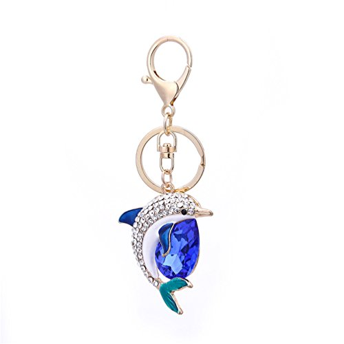 Floralby Cute Dolphin Women Keyring Keychain Bag Pendant Car Key Decor Xmas Gift (Chain Dolphin)
